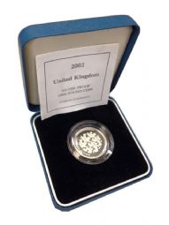 2002 Silver Proof One Pound Coin for sale